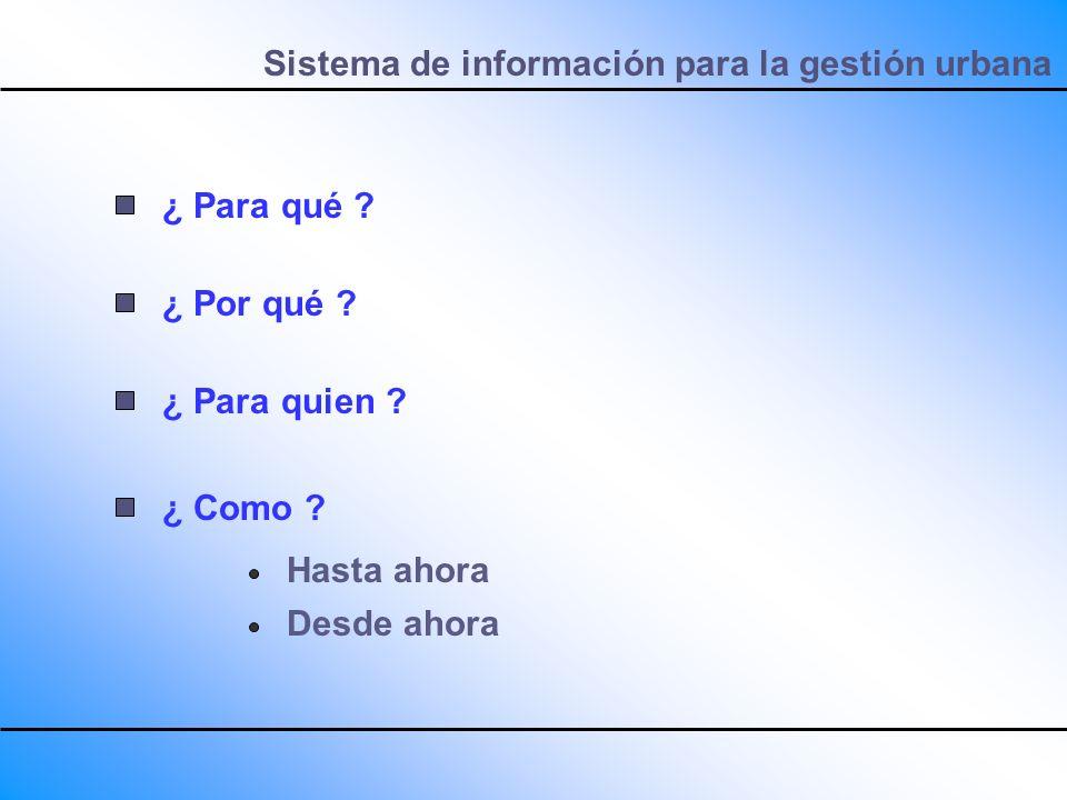 Sistema de información para la gestión urbana