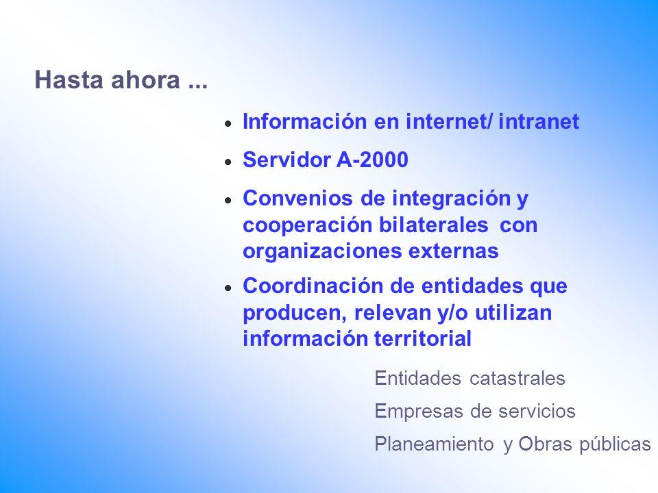 Hasta ahora ... Información en internet/ intranet Servidor A-2000