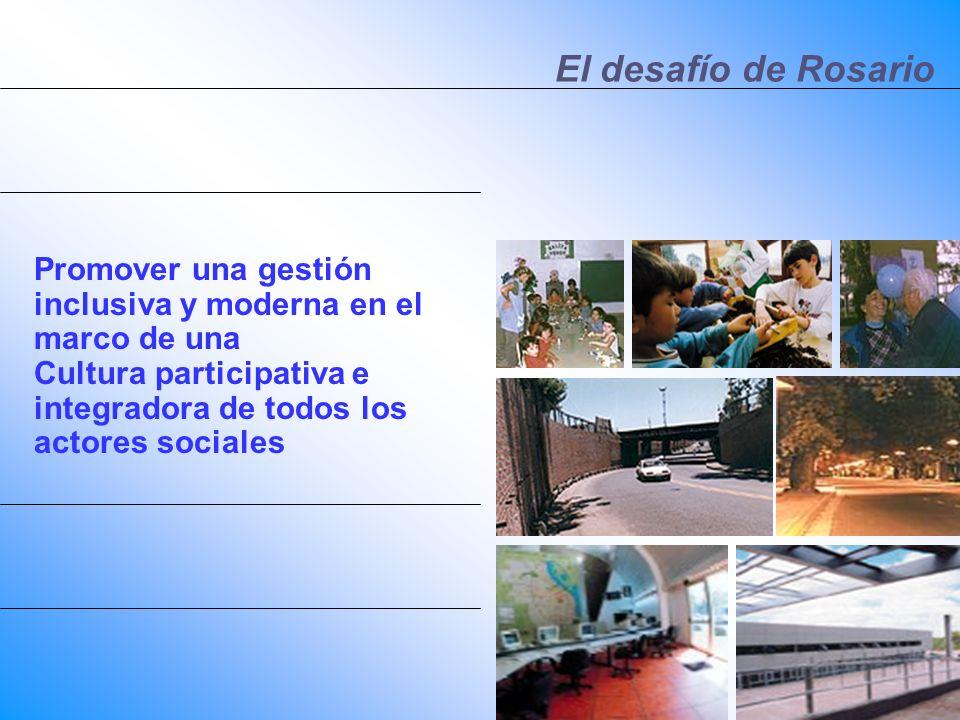 El desafío de Rosario Promover una gestión inclusiva y moderna en el marco de una.