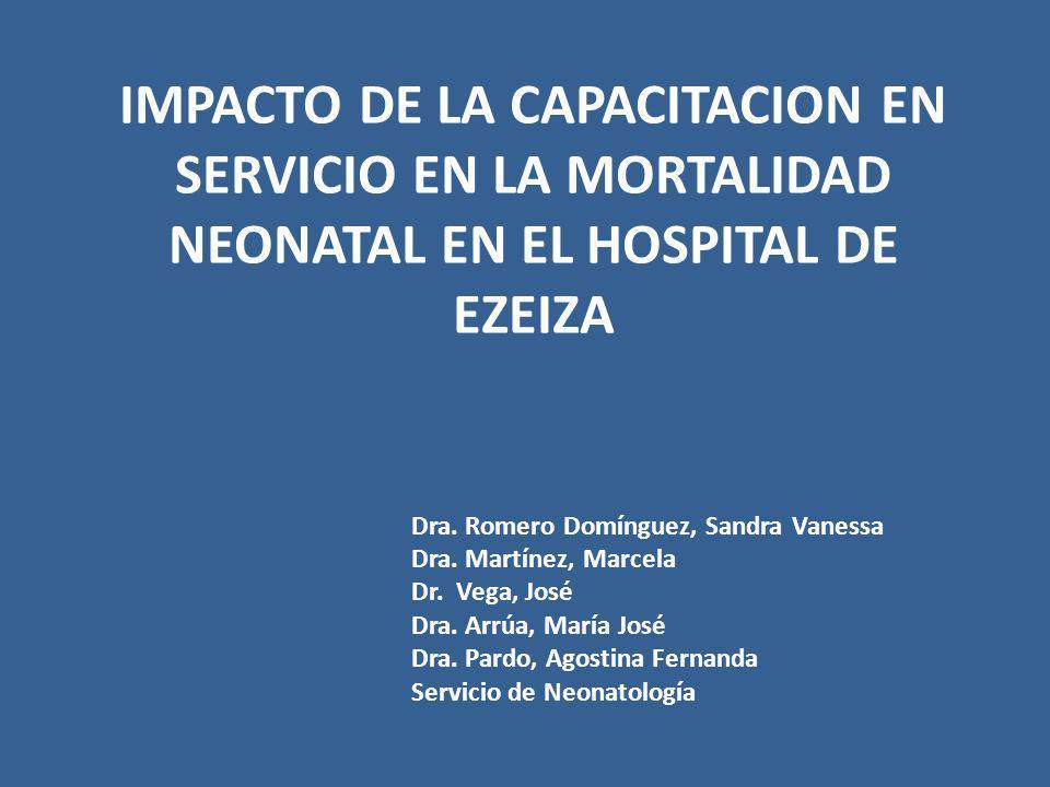 IMPACTO DE LA CAPACITACION EN SERVICIO EN LA MORTALIDAD NEONATAL EN EL HOSPITAL DE EZEIZA