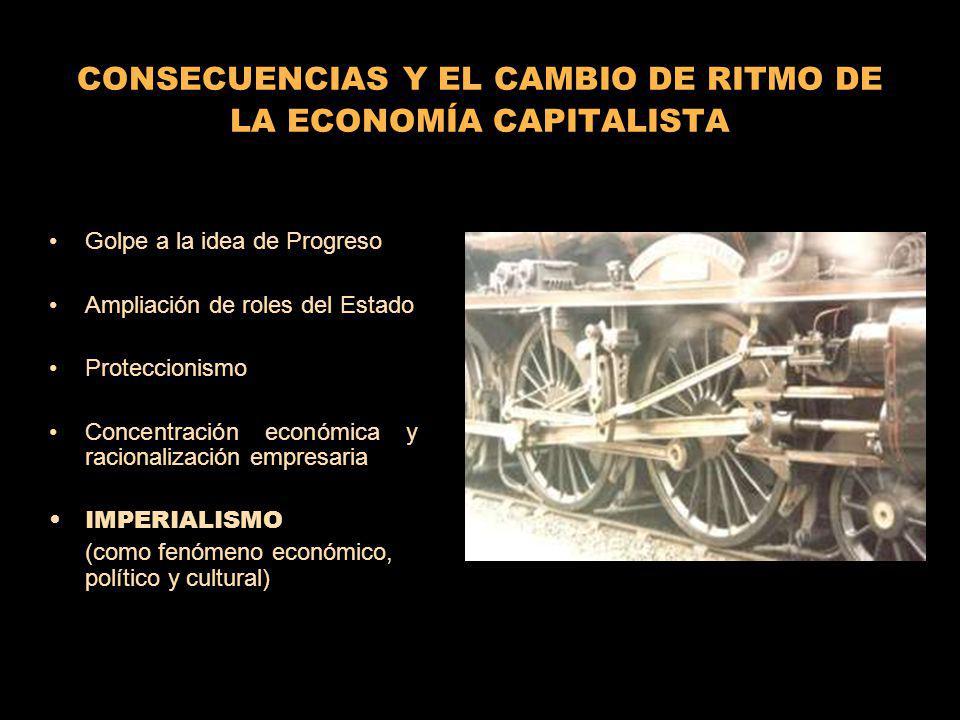 CONSECUENCIAS Y EL CAMBIO DE RITMO DE LA ECONOMÍA CAPITALISTA