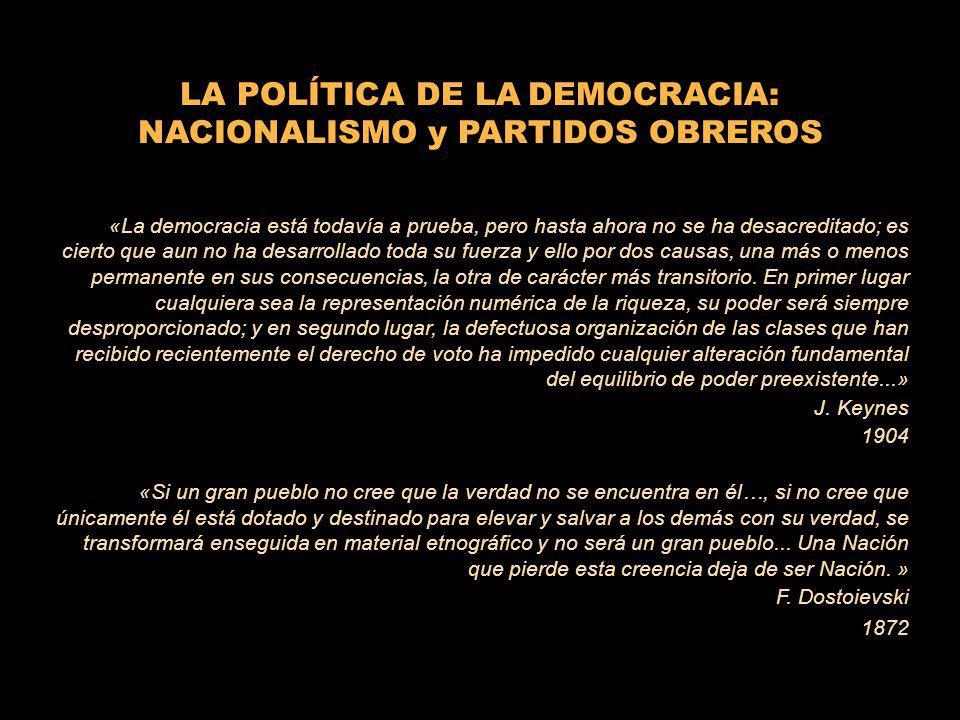 LA POLÍTICA DE LA DEMOCRACIA: NACIONALISMO y PARTIDOS OBREROS