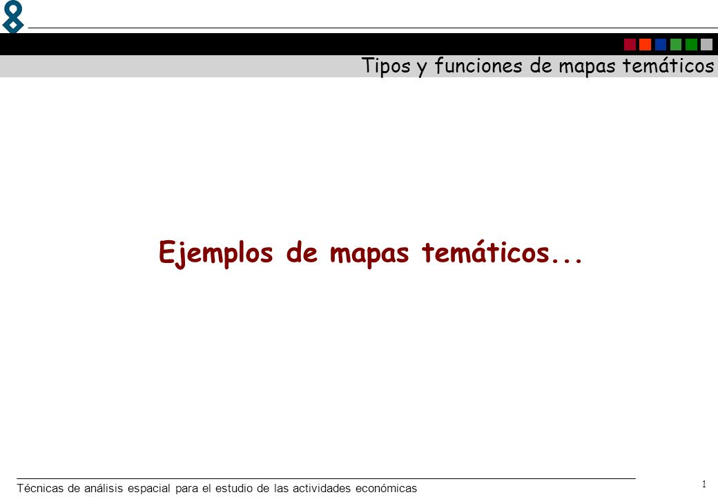 Tipos y funciones de mapas temáticos