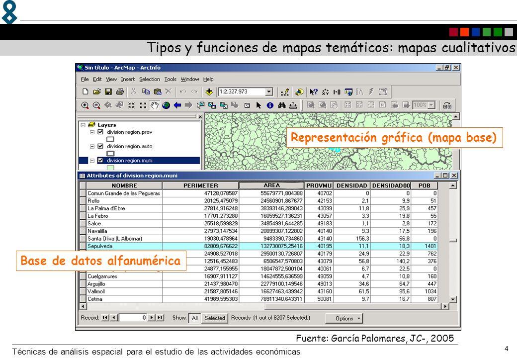 Tipos y funciones de mapas temáticos: mapas cualitativos