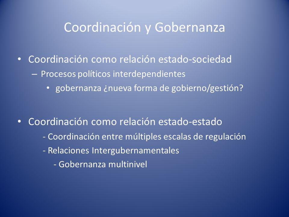 Coordinación y Gobernanza