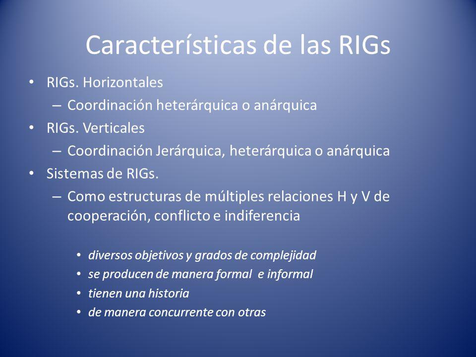Características de las RIGs