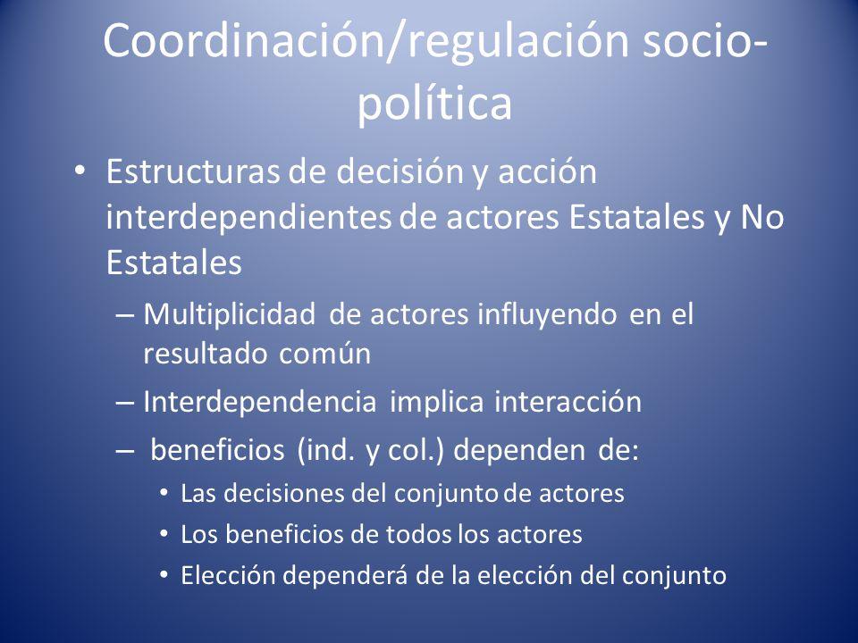 Coordinación/regulación socio-política