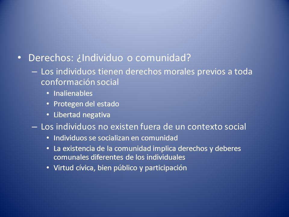 Derechos: ¿Individuo o comunidad