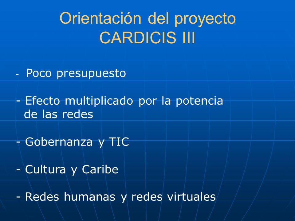 Orientación del proyecto CARDICIS III