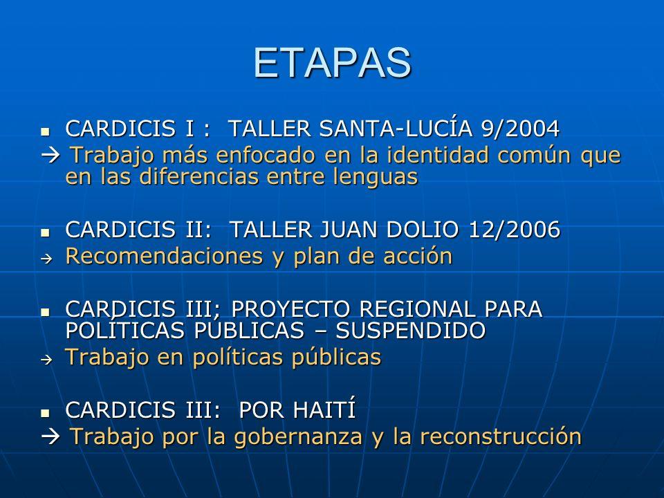 ETAPAS CARDICIS I : TALLER SANTA-LUCÍA 9/2004