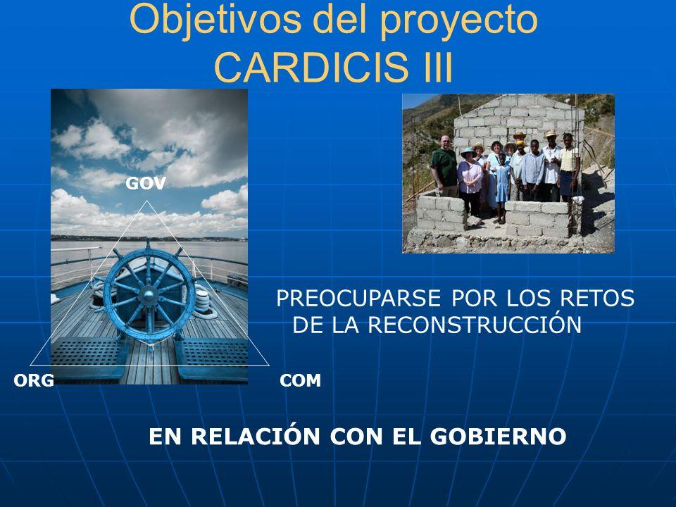Objetivos del proyecto CARDICIS III