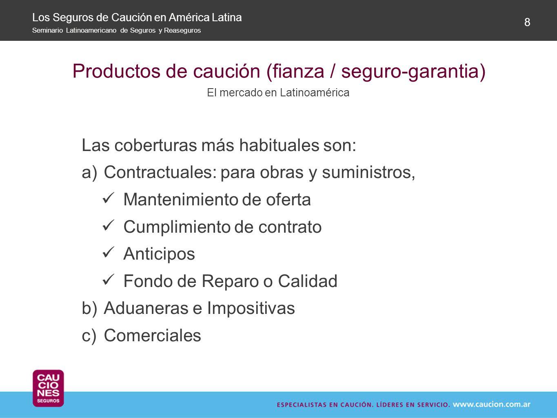Productos de caución (fianza / seguro-garantia)