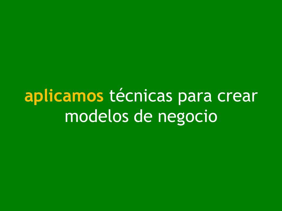 aplicamos técnicas para crear modelos de negocio