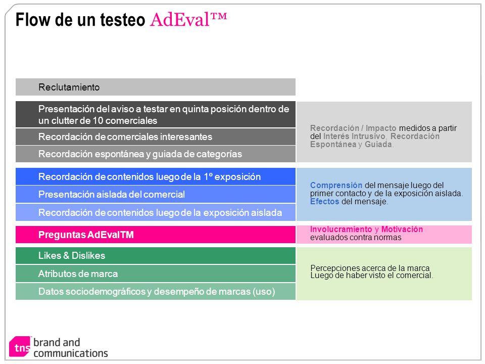 Flow de un testeo AdEval™