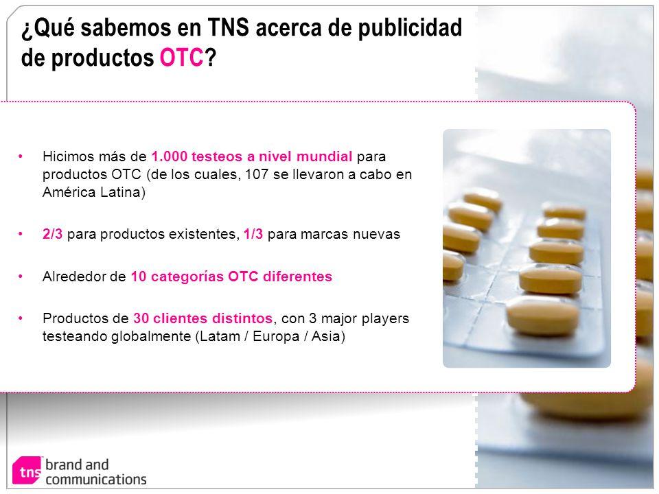 ¿Qué sabemos en TNS acerca de publicidad de productos OTC