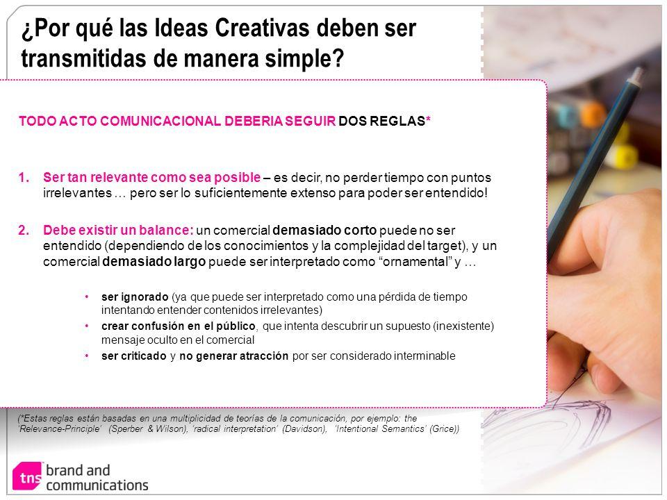 ¿Por qué las Ideas Creativas deben ser transmitidas de manera simple