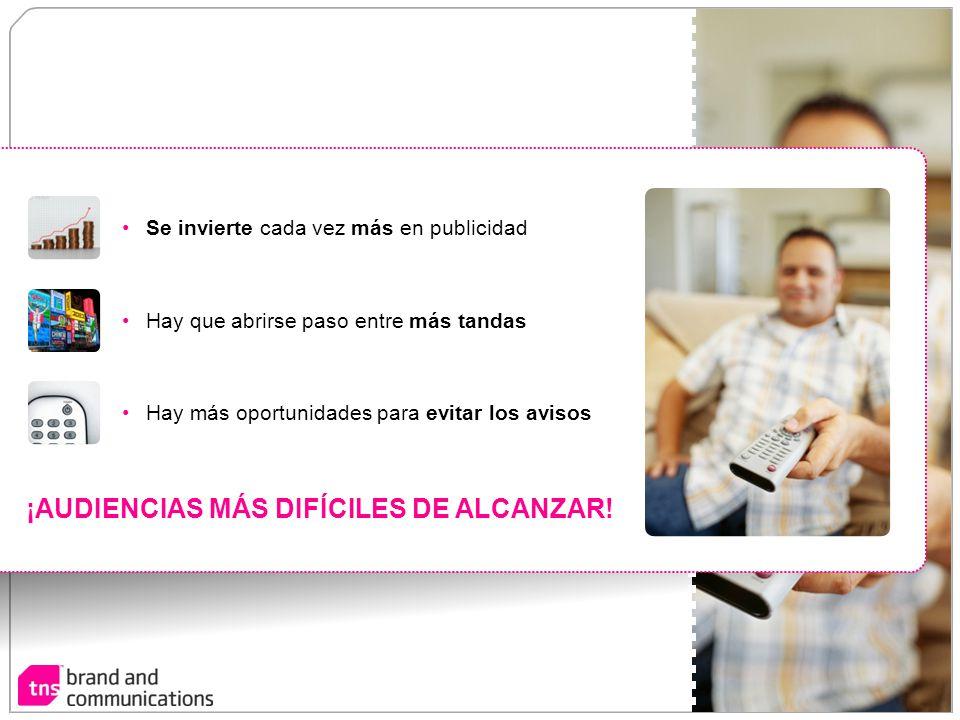 ¡AUDIENCIAS MÁS DIFÍCILES DE ALCANZAR!