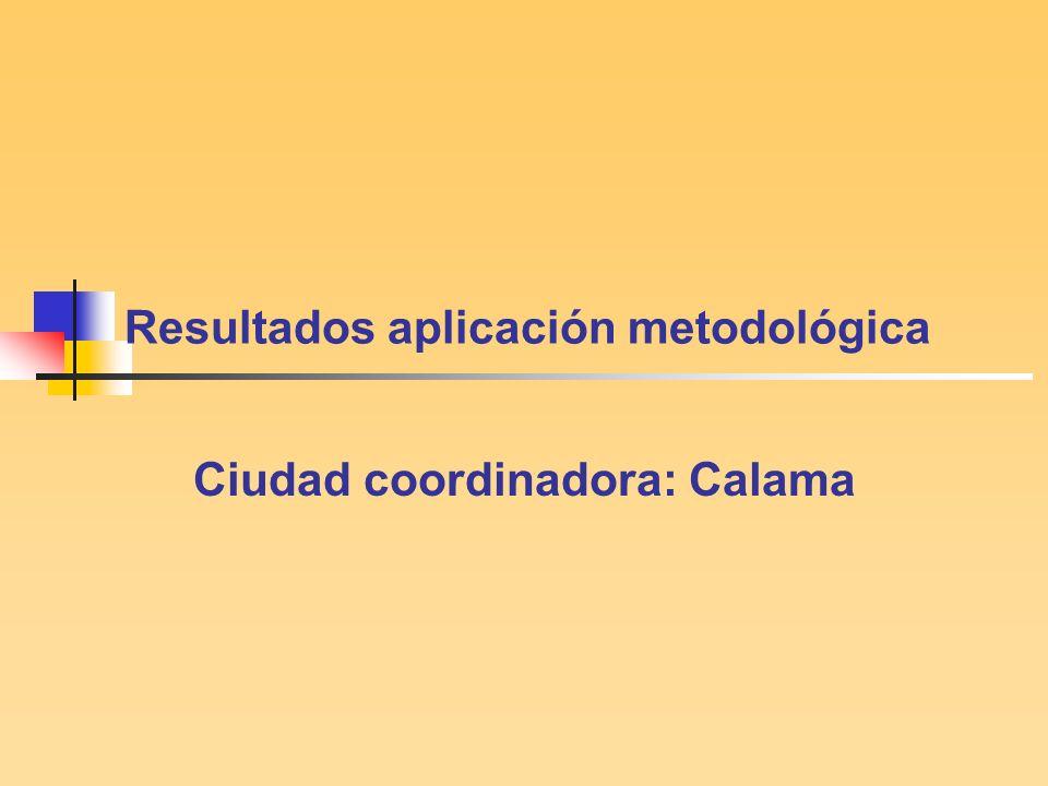 Resultados aplicación metodológica