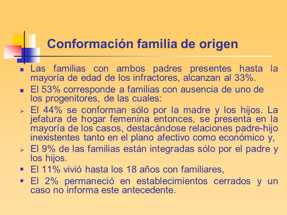 Conformación familia de origen