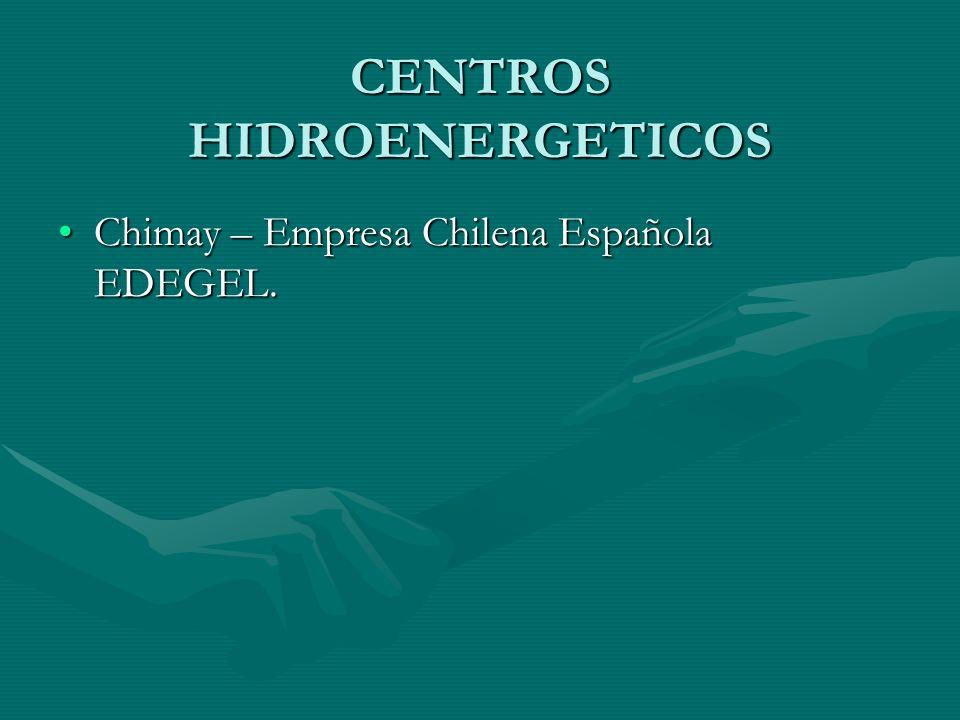 CENTROS HIDROENERGETICOS