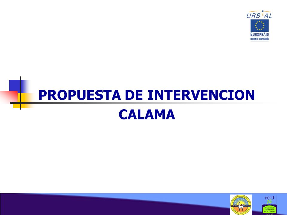 PROPUESTA DE INTERVENCION CALAMA