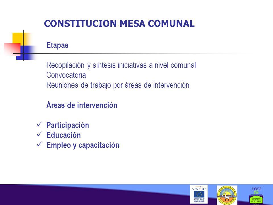 CONSTITUCION MESA COMUNAL