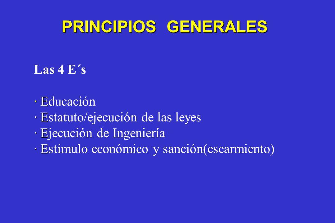 PRINCIPIOS GENERALES Las 4 E´s · Educación
