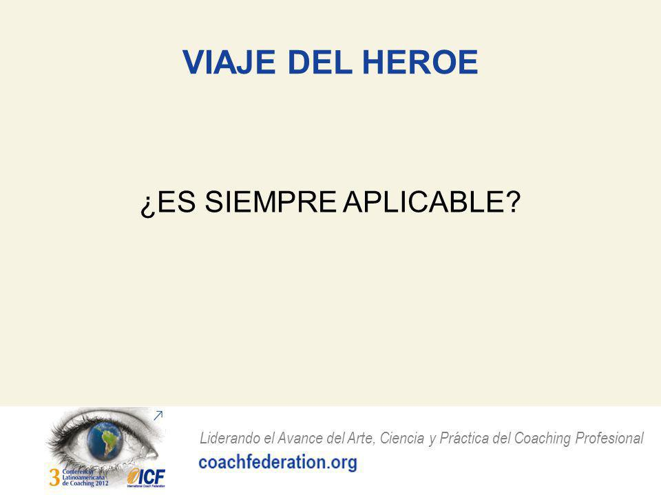VIAJE DEL HEROE ¿ES SIEMPRE APLICABLE