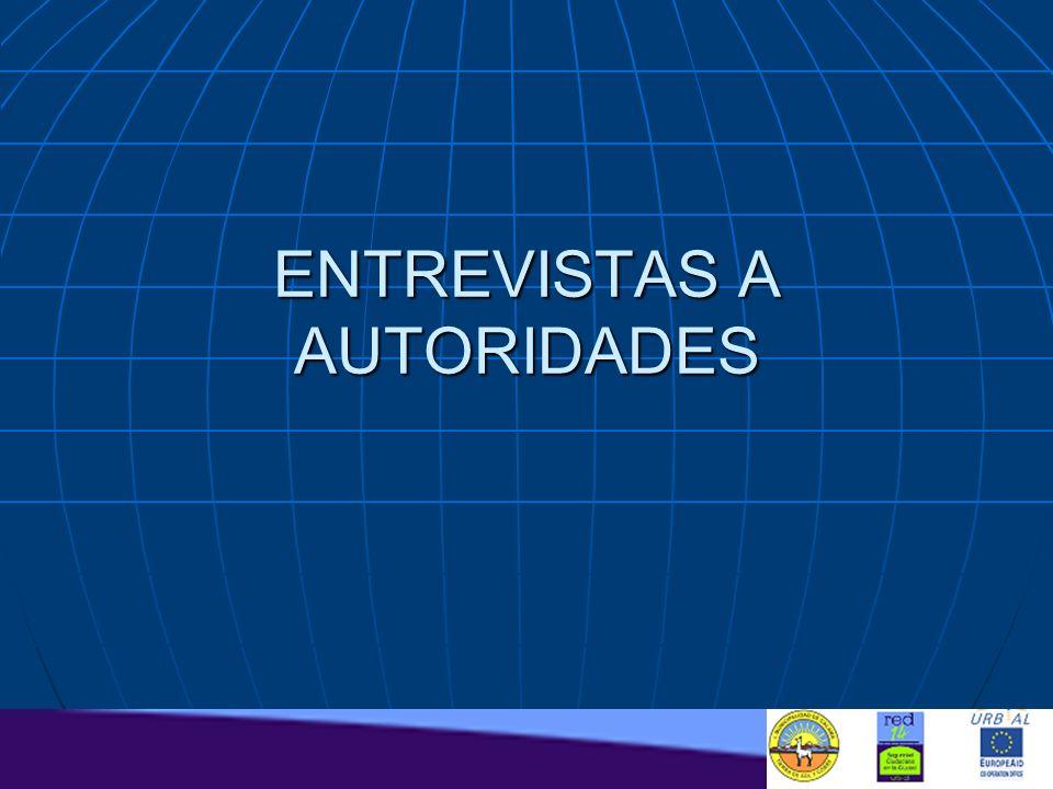 ENTREVISTAS A AUTORIDADES