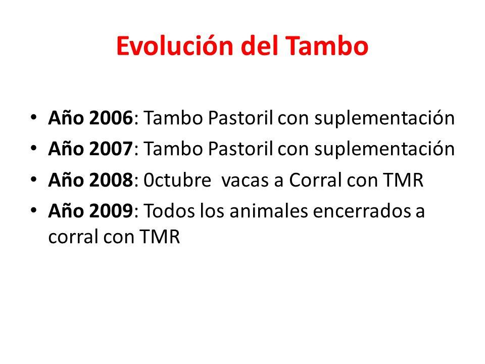 Evolución del Tambo Año 2006: Tambo Pastoril con suplementación
