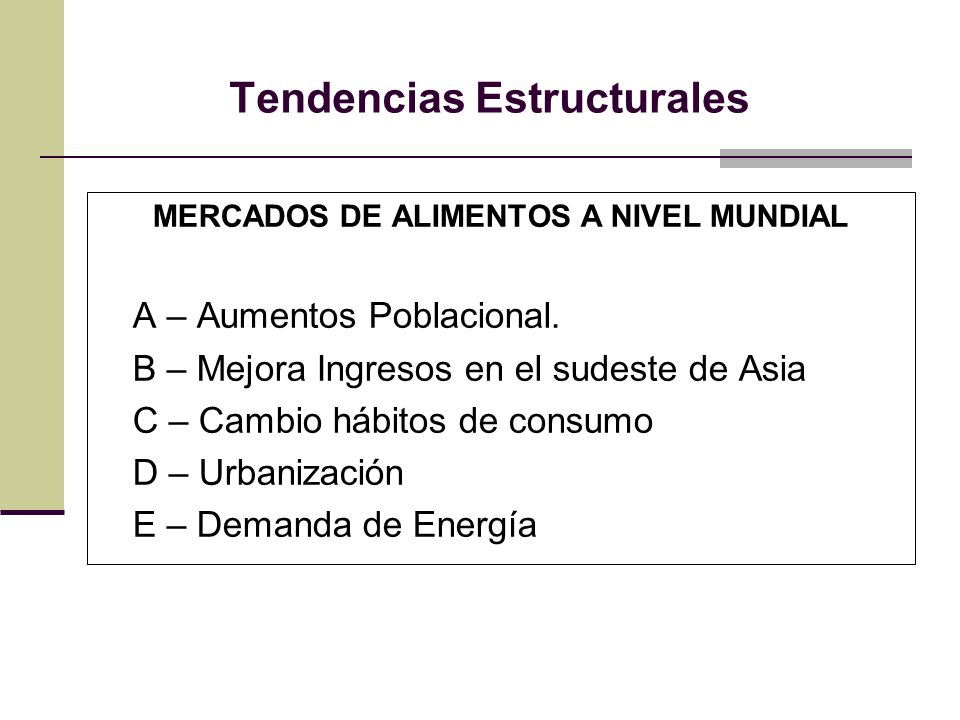 Tendencias Estructurales