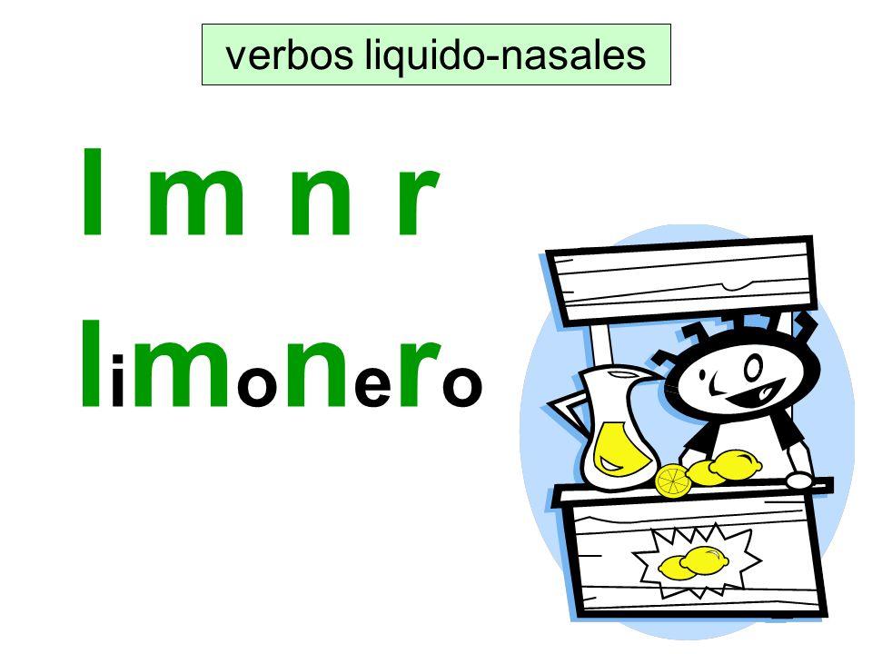 verbos liquido-nasales