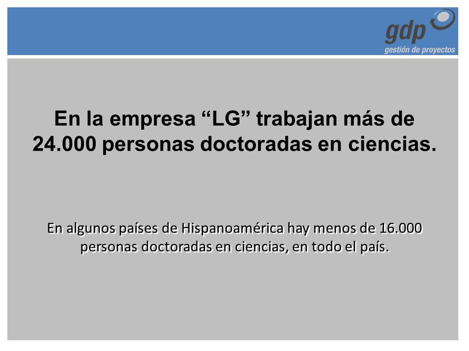 En la empresa LG trabajan más de 24