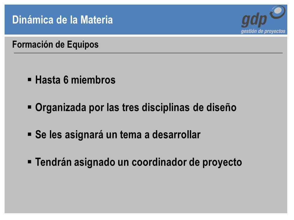 Organizada por las tres disciplinas de diseño