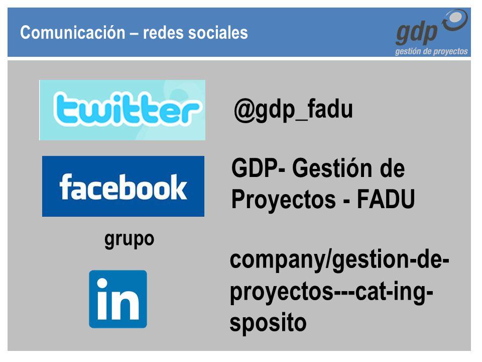 GDP- Gestión de Proyectos - FADU