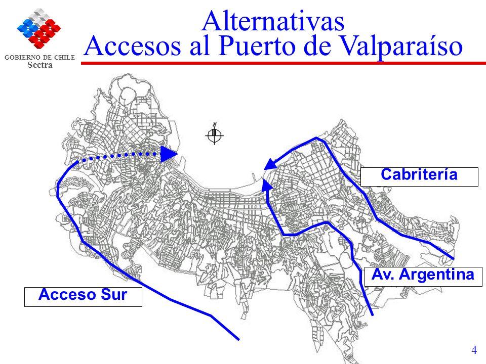 Accesos al Puerto de Valparaíso