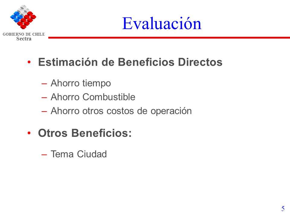 Evaluación Estimación de Beneficios Directos Otros Beneficios: