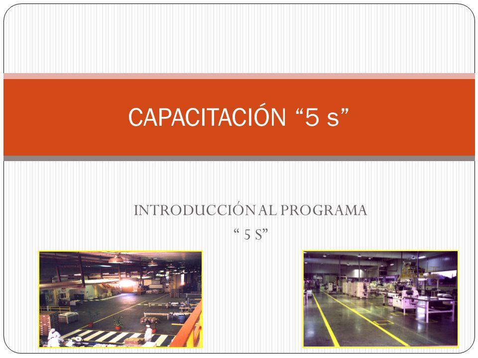INTRODUCCIÓN AL PROGRAMA 5 S