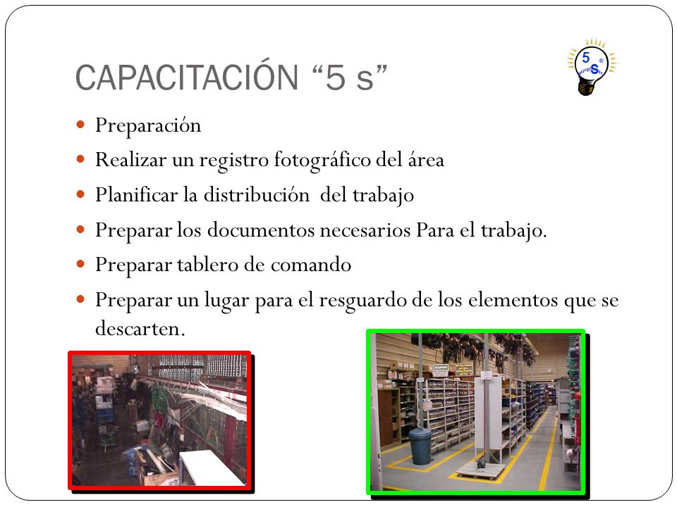 CAPACITACIÓN 5 s Preparación