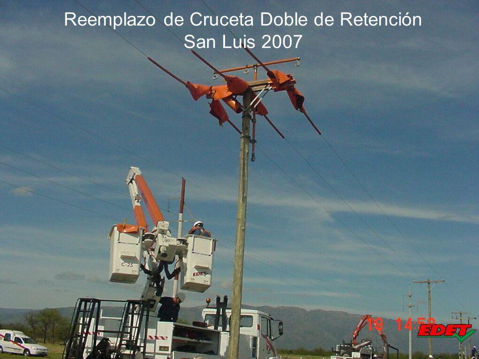 Reemplazo de Cruceta Doble de Retención San Luis 2007