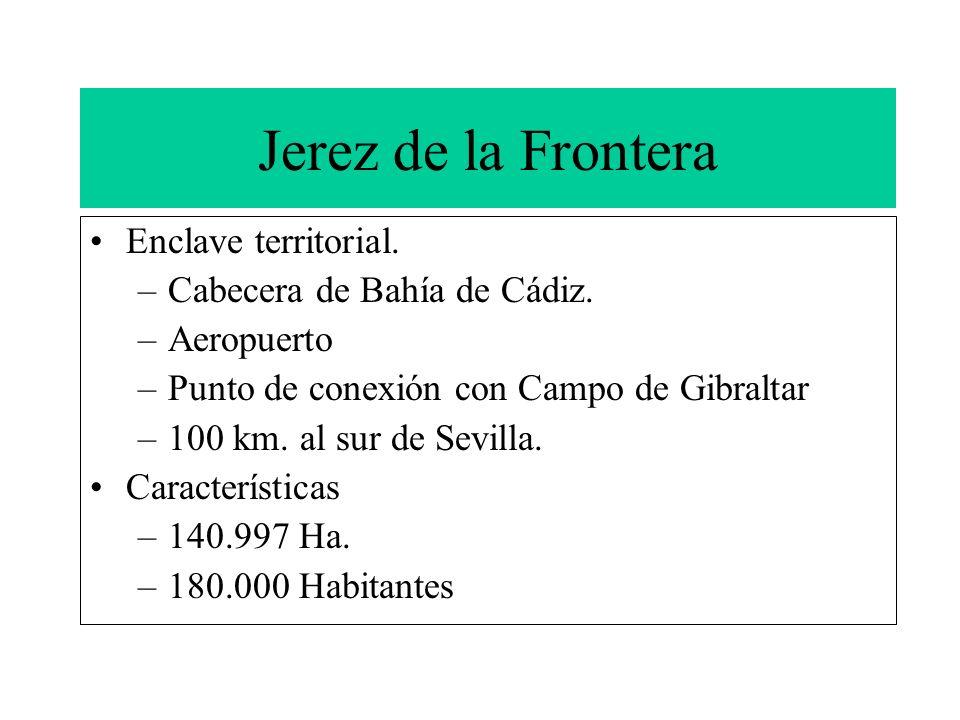 Jerez de la Frontera Enclave territorial. Cabecera de Bahía de Cádiz.