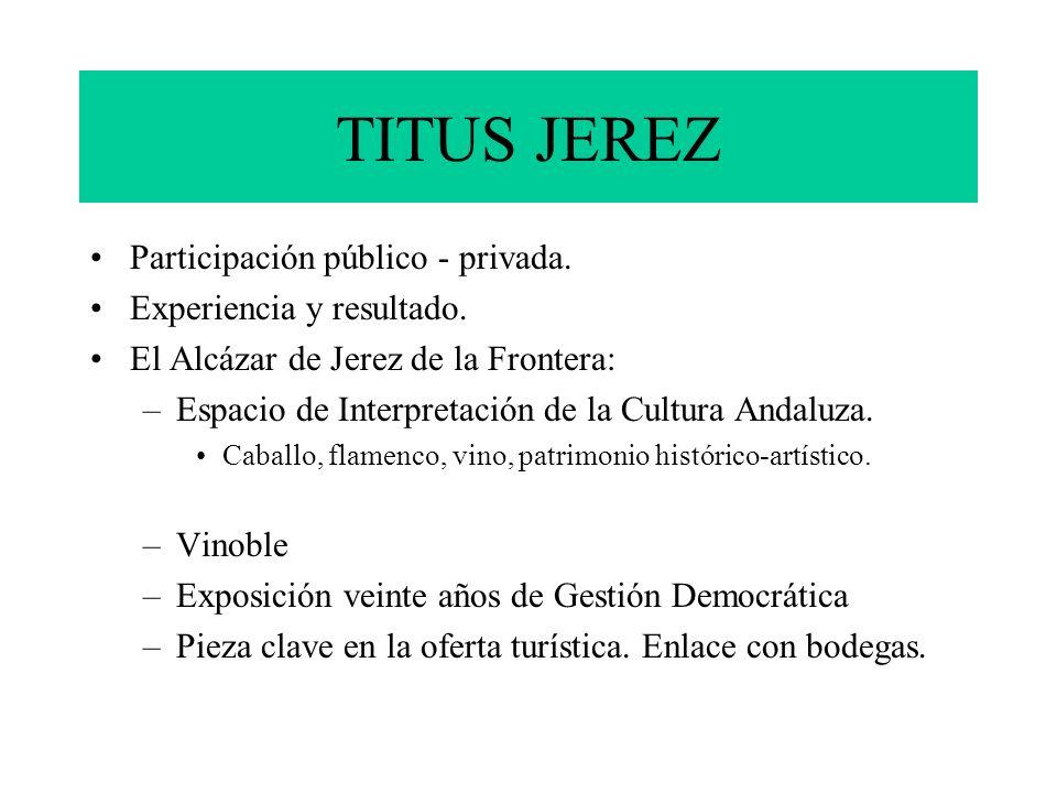 TITUS JEREZ Participación público - privada. Experiencia y resultado.