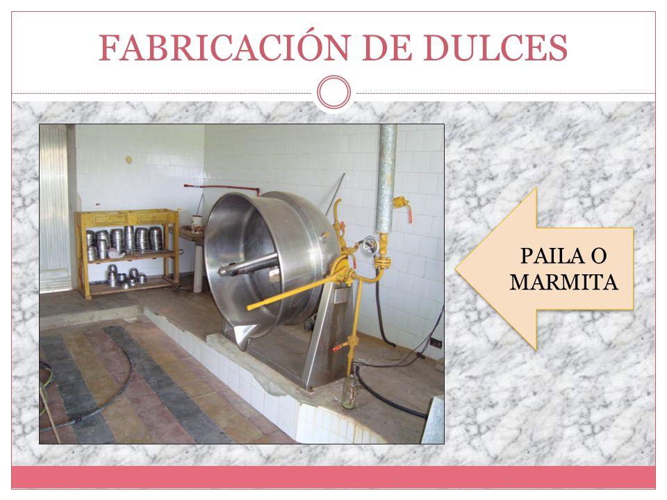 Fabricación de Dulces PAILA O MARMITA