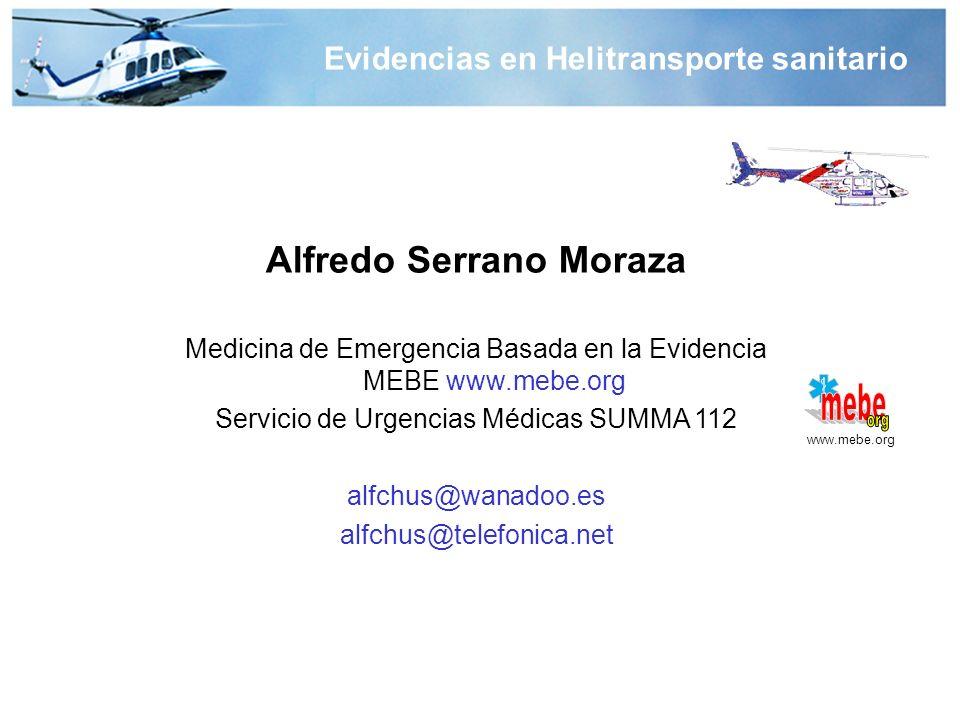 Evidencias en Helitransporte sanitario Alfredo Serrano Moraza