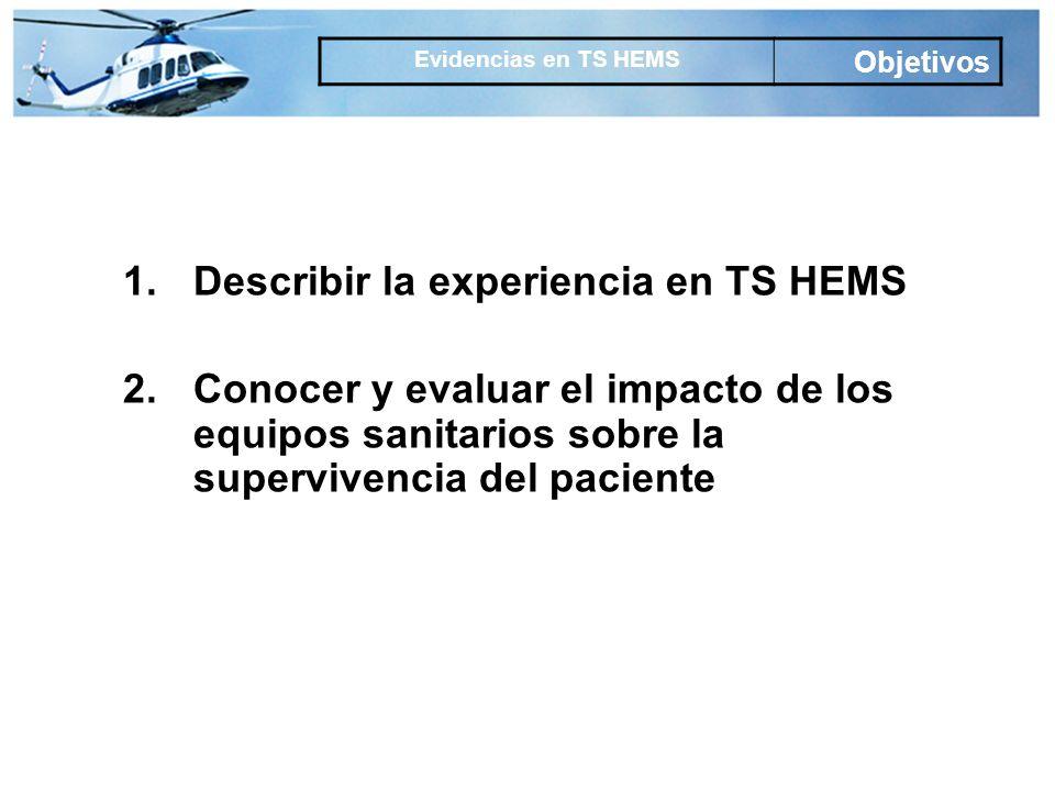 Describir la experiencia en TS HEMS