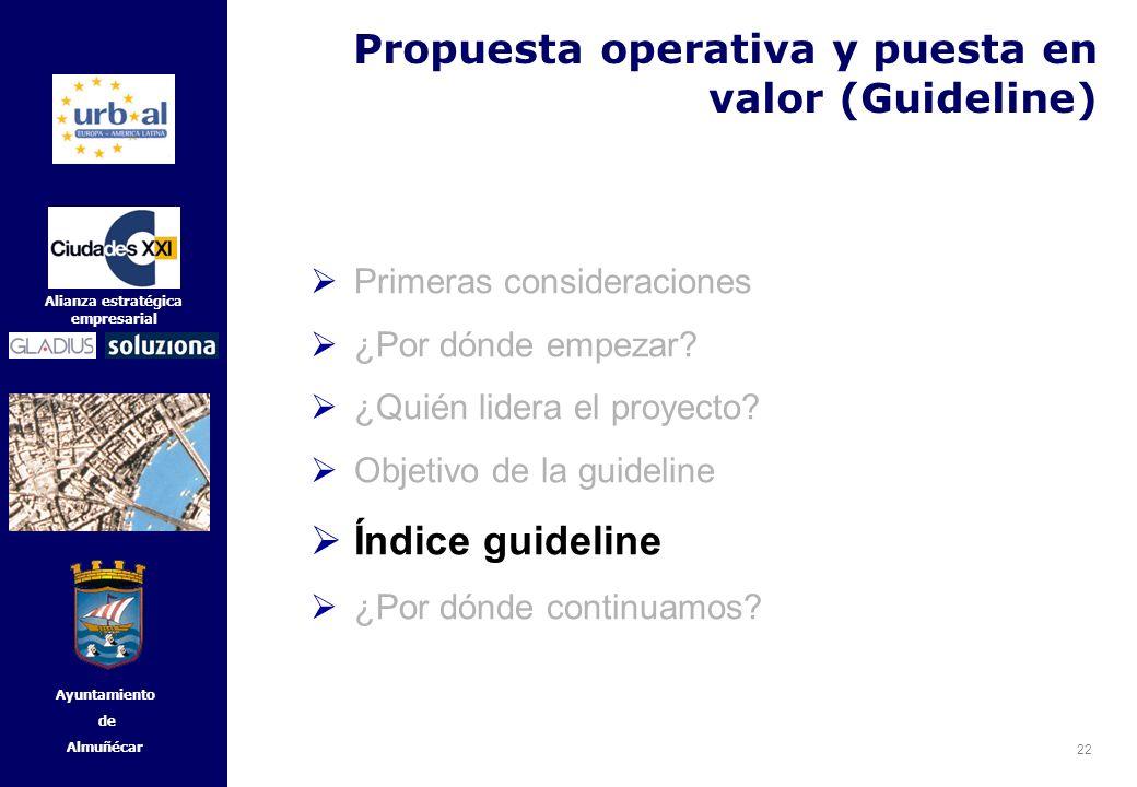 Propuesta operativa y puesta en valor (Guideline)