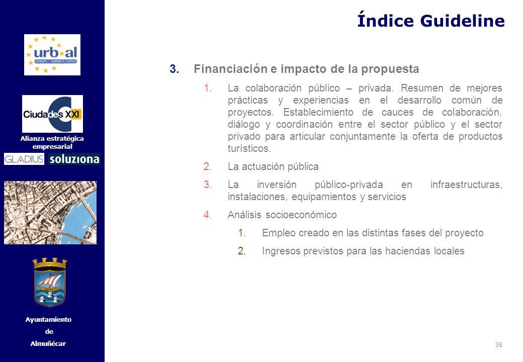 Índice Guideline Financiación e impacto de la propuesta
