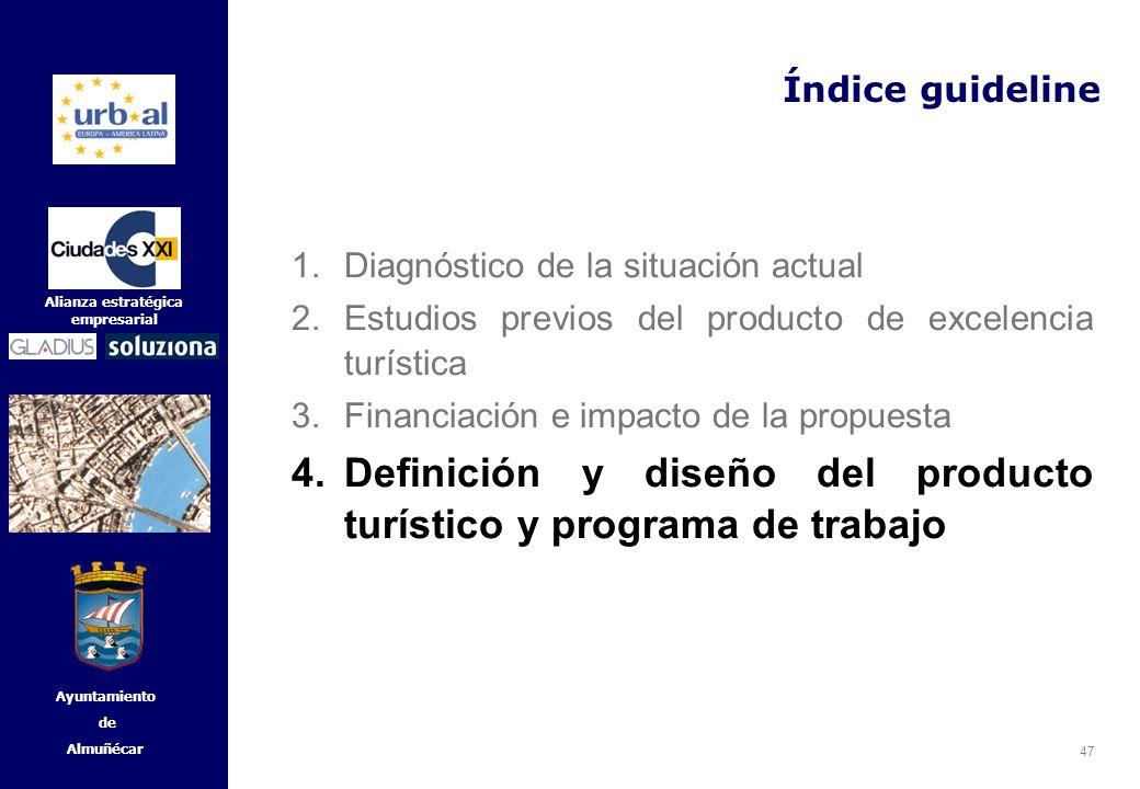 Definición y diseño del producto turístico y programa de trabajo