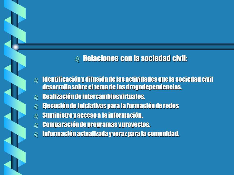 Relaciones con la sociedad civil: