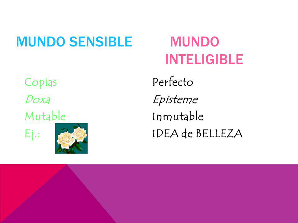 Mundo Sensible Mundo Inteligible